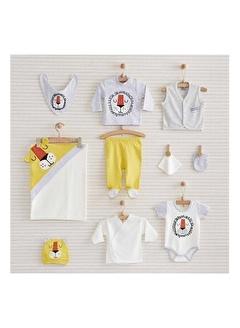 Nenny Baby Nenny Baby Nb152 Aslan Desenli Erkek Bebek Happy Lion 10' lu Hastane Çıkış Seti